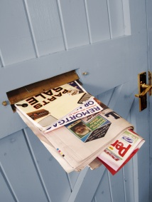 Junk mail posted through letterbox