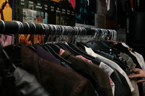 Clothing on a rail