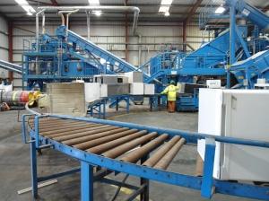 Fridges on conveyor belt