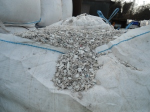 Plastic flake ready for recycling