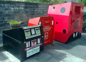 On-street recycling banks