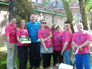 Park Plaza staff volunteering at Archbishop's Park