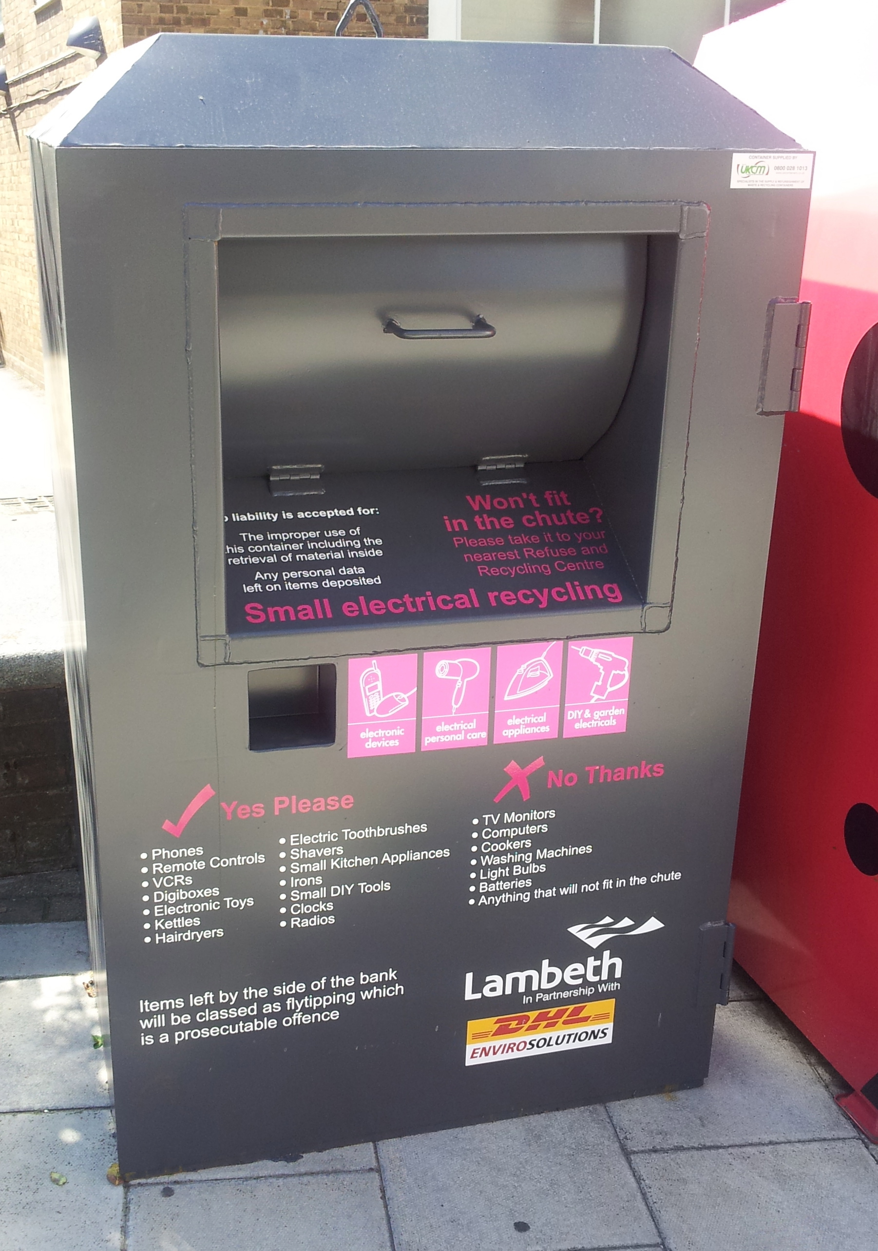 Local Recycling Points Lambeth Environment