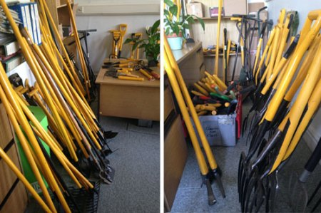 Refurbished tools ready for redistribution.