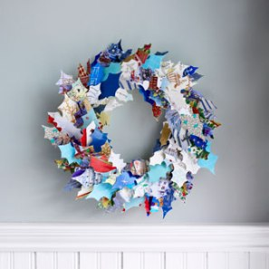 recycled-greeting-cards-diy-wreath